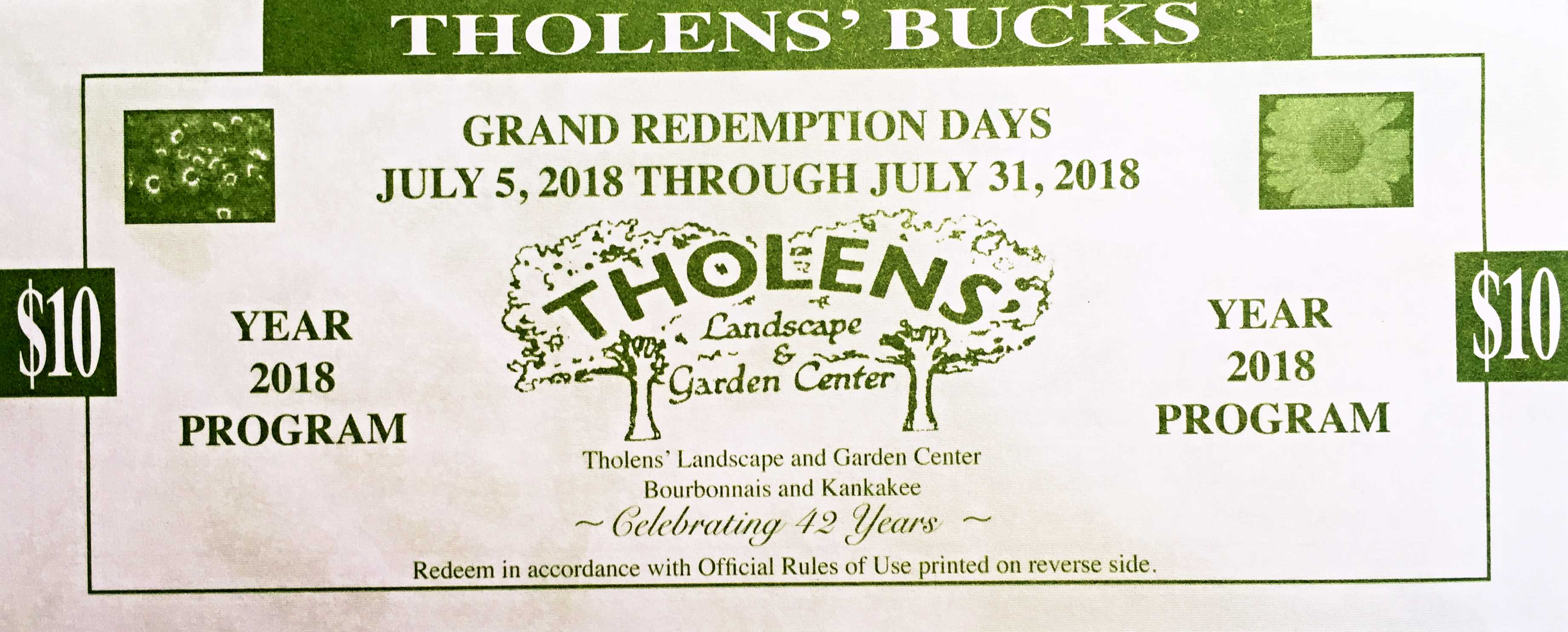 Superieur Tholensu0027 Bucks Grand Redeption Days Ends Tomorrow, July 31st! Hurry In To  Take Advantage Of Up To 50% Off Your Purchase!*